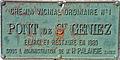 Saint-Geniez-d'Olt - Pont de Saint-Geniez - Plaque commémorative.jpg