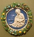 Saint Ambrose by Andrea della Robbia, Florence, c. 1490, glazed terracotta - Bode-Museum - DSC02969.JPG