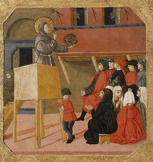 Saint Bernardino of Siena Preaching by Lo Scheggia