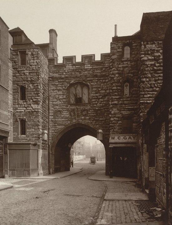 Saint John's Gate Clerkenwell the main gateway to the Priory of Saint John of Jerusalem 1880