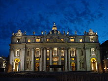 Saint Peter's Facade at Dusk.jpg
