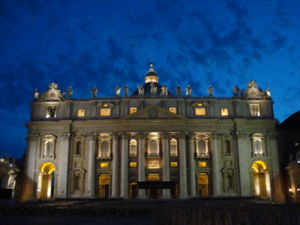 Image of Saint Peter's Basilica in Rome, Italy...