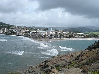 Sainte-Marie, Martinique - A view of Sainte-Marie from the islet
