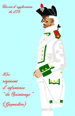 Saintonge Regiment - Image: Saintonge 85RI 1779