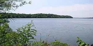 Sakatah Lake State Park - Sakatah Lake State Park as seen from the east shore of Sakatah Lake