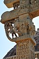 Salabhanjika and Elephants - Front Side - Bottom East Architrave End - North Gateway - Stupa 1 - Sanchi Hill 2013-02-21 4300.JPG