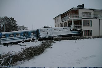 2013 Saltsjöbanan train crash - Image: Saltsjobaden olycka 2