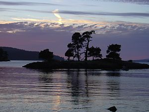 San Juan Islands - Image: San Juan Island At Night