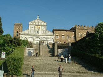 Obsession (1976 film) - Facade of the basilica San Miniato al Monte in Florence, one of the important settings of the film.