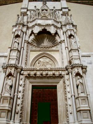Ancona - The portal of the church of San Francesco.