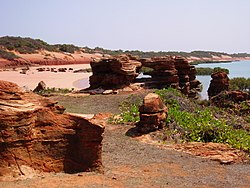 Sand beaches of northern Roebuck Bay, Broome, Western Australia.jpg