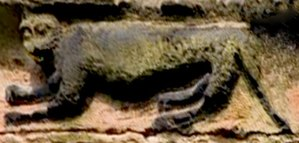 Cheshire Cat - Grinning Cheshire Cat, St Wilfrid's Church. Grappenhall, Cheshire