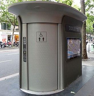 Sanisette - A Sanisette on the boulevard Sébastopol in Paris