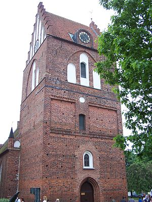 Sölvesborg - The Brick Gothic church dedicated to St. Nicholas is the main church of the city