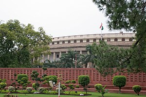 Central Legislative Assembly - The circular Parliament Building (Sansad Bhavan) in New Delhi, home of the Central Legislative Assembly