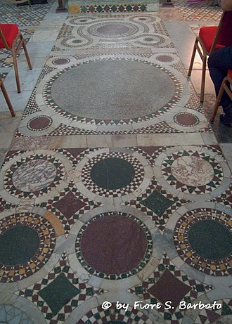 Robert of Caiazzo - Cosmatesque flooring in San Mennato