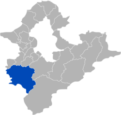Location of Sanxia in New Taipei City