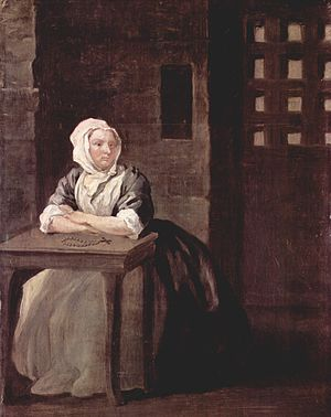 Sarah Malcolm - The painting by Hogarth