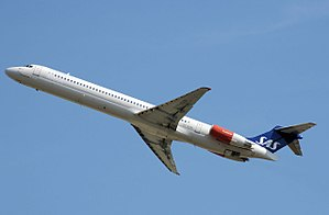 McDonnell Douglas MD-80 - Scandinavian Airlines MD-81 taking off