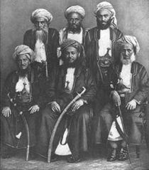 Sayyed Bargash with his ministers.jpg