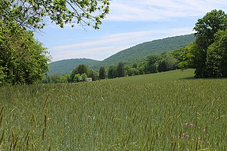 Upper Paxton Township, Dauphin County, Pennsylvania - Field and mountain in Upper Paxton Township