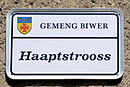Schëld Haaptstrooss, Biwer.jpg