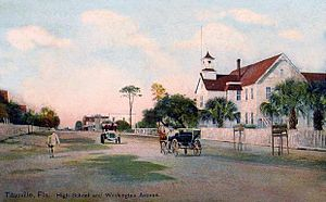 Titusville, Florida - Washington Avenue c. 1910