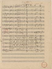 Zu den Waffen! – der erste der Drei Freiheitsgesänge, Autograf von 1848 (Quelle: Wikimedia)