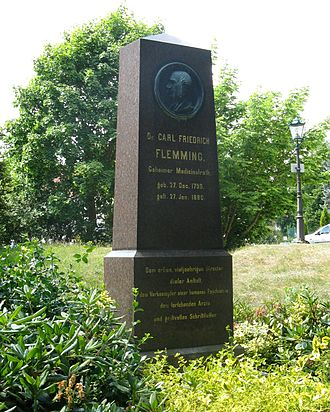 Carl Friedrich Flemming - Monument to Flemming in Schwerin.