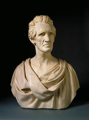 Hiram Powers - Sculpture of Andrew Jackson by Hiram Powers, modeled in 1835