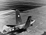 Sea Hawk F1 folding wings on USS Antietam (CVA-36) in 1953.jpg
