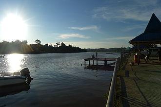 Sebauh - A quiet morning at the jetties in Sebauh town.