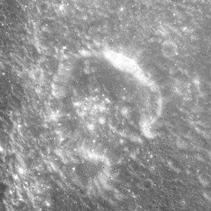 Secchi (lunar crater) - Image: Secchi crater AS15 M 2124