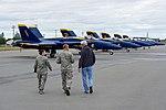 Secretary Kerry Walks Toward F-A-18 Fighter Jets Used by the Blue Angels, the U.S. Navy's Flight Demonstration Team (27995093403).jpg