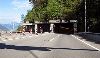 Seelisberg Tunnel - North portal of the Seelisberg Tunnel