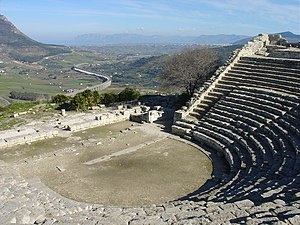 Segesta - The Greek theatre