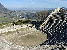 Το αρχαίο θέατρο στη Σεγέστα της Σικελίας