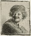 Self-portrait in a Cap, Laughing by Rembrandt RP-P-OB-687.jpg