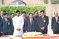 Senior General Mr. Than Shwe, the Chairman of State Peace & Development Council of Union of Myanmar paying homage at the Samadhi of Mahatma Gandhi in Delhi on October 25, 2004.jpg