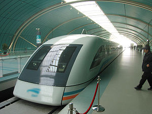 Transrapid magnetic levitation train in Shangh...