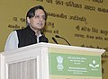 Shashi Tharoor addressing the Convention of Ministers of Adult Education and Panchayati Raj and District Panchayat Presidents of Saakshar Bharat States, in New Delhi on June 13, 2013.jpg