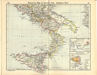Roman Italy - Italia (southern section) under Augustus and successors