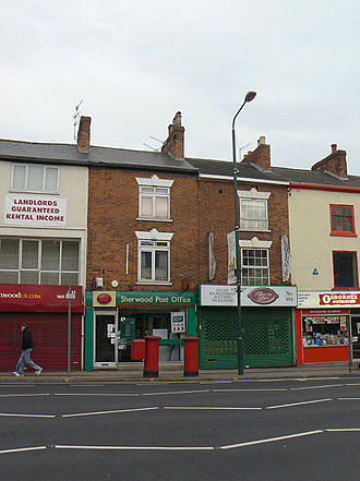 Sherwood, Nottingham - Sherwood Post Office in 2009 (since relocated)