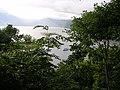 Shikotsu Lake and tour boat.JPG