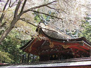 春の鹽竈神社景色