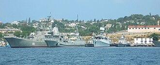 Ukrainian Navy - Left to right, U402 Konstantyn Olshansky, U401 Kirovohrad, U154 Kahovka, U209 ''Ternopil'', U153 Pryluky.