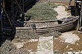 Shoreham-by-Sea Riverside Moorings rotting dinghy, West Sussex, England.jpg