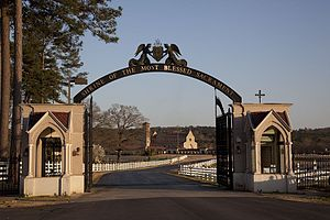 Shrine of the Most Blessed Sacrament - The entrance gates to the shrine.