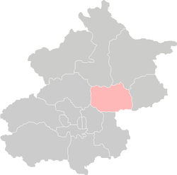 Location of Shunyi District in Beijing