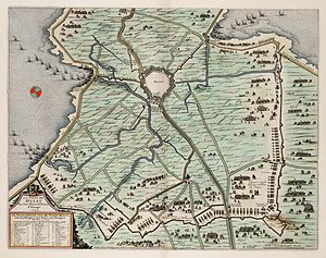 Siege of Hulst (1645) - Map of the siege of Hulst